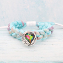 20MM Loveheart snap Silver Plated with colorful Rhinestone KC9446 snaps jewelry