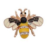 20MM snap abeille plaqué or avec strass et émail KC9447 snaps bijoux