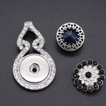 snap sliver Pendant fit 20MM snaps style jewelry KD0311