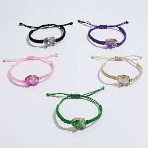 6pcs / set natural stone hand woven Bracelet
