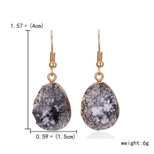 Natural Stone Pendant Earrings