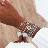 Totem des böhmischen Elefanten Armband Mondkompasskreis Persönlichkeit 5 Stück Armband Set