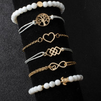 Tree of life love woven rope bracelet 8-character tortoise element Beaded Bracelet 6-Piece set