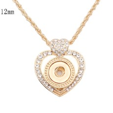 Necklace 46cm  chain gold KS1308-S fit 12MM chunks snaps jewelry