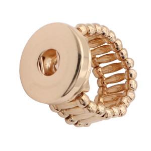 1 пуговица на кнопке из золота Кольцо с белыми стразами и защелками для украшений KC1327