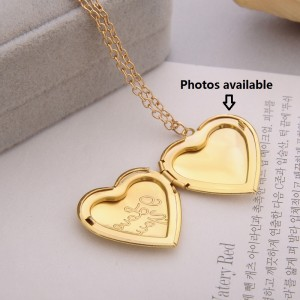 Commemorative Photo Pendant, love Photo Box 50CM Necklace