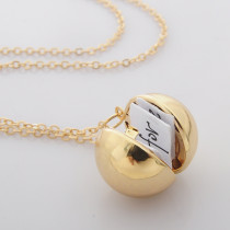 Bola de información secreta conmemorativa pequeña caja 65CM Collar