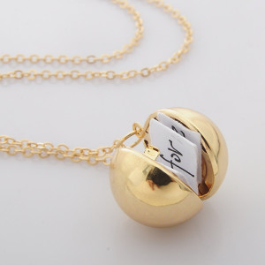 Collier Commémoratif Secret Information Ball Small Box 65CM