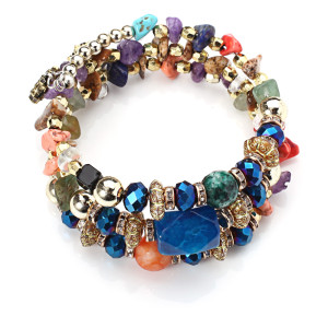 Artificial crystal agate bracelet