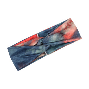 Elastic sports hair band women's tie dye cross hair band wide edge headdress