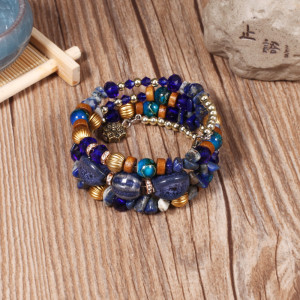 Fashionable crystal bracelet, artificial crystal agate stone and multi-layer Bracelet