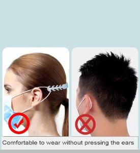 MOQ50 Ear protector, earache proof, ear mask, buckle hook, silica gel mask, rope belt, elastic adjusting buckle, extension buckle
