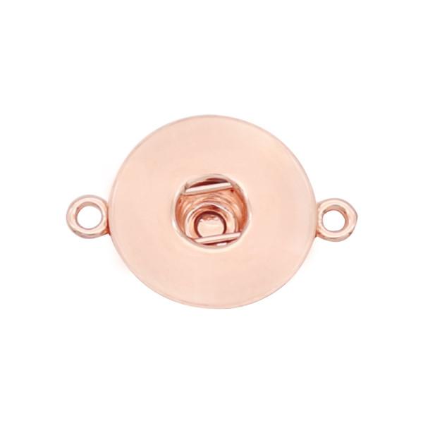 Оснастка Кулон из розового золота Подвеска подходит 20MM защелкивается стиль ювелирных изделий KD0324