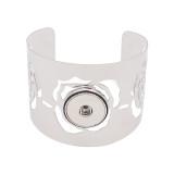 1 boutons pression bracelet argenté fit boutons pression bijoux KC0579