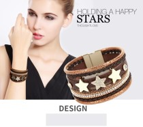 Bohemian multi-layer Bracelet star pattern wide edge Bracelet quick sale Bracelet