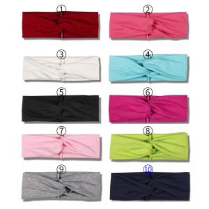 Solid color, breathable, sweat absorbing and comfortable sports harness, fashionable cross fabric headband