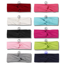 Solid color, breathable, sweat absorbing and comfortable sports harness, fashionable  fabric headband