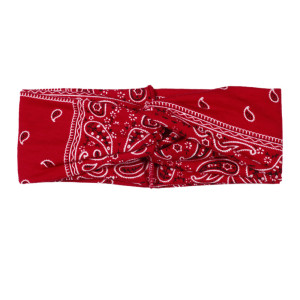 Bohemian cashew print hair with casual holiday hair accessories make-up, face wash, hair band, crossing wide edge