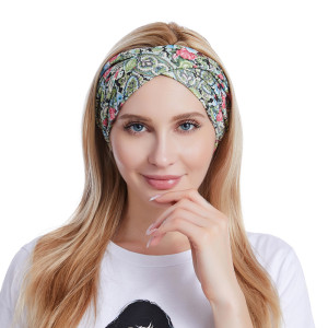 Sweet Rose Hair Band yoga exercise face wash and hair band cross sweat absorption hair band