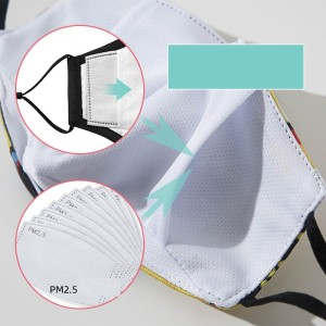 PM2.5 filter can be put into it, all cotton dust-proof, haze proof, breathable, protective nose mask is easy to breathe and wash
