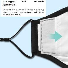 Filtro de máscara MOQ50 PM2.5 Protección de 5 capas, filtro de carbón activo antivaho y a prueba de polvo núcleo de cojín de máscara desechable