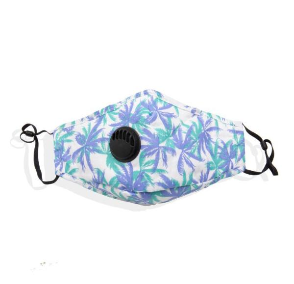 MOQ10 Face mask PM2.5 dust and haze proof cotton mask washable printed pattern camouflage breathing valve mask can be inserted with filter