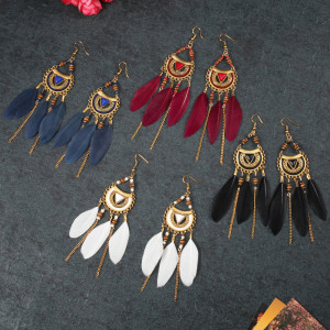 South East Asia lazada Indian Feather Earrings