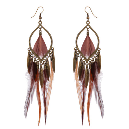 Feather Long Earring ornament