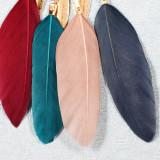 Серьги кисточка из перьев ручной работы с рисовыми бусинами Серьги темперамент длинные серьги в национальном стиле