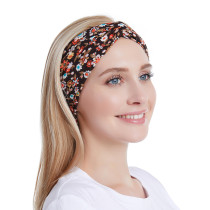 ヘアバインディング、洗顔、スポーツコットンプリントのヘッドバンドバンダン用の花柄弾性ヘッドバンド