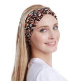 Эластичная повязка на голову с цветочным рисунком для завязывания волос, мытья лица и спортивных повязок на голову с хлопковым принтом