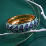 Ретро масло капает двухцветный золотой след трассировки браслет подарок на праздничную вечеринку браслет