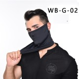 MOQ10 Ice silk sun protection head Neck gaiter cover ear Bib outdoor riding triangle scarf breathable sun protection face neck riding face mask