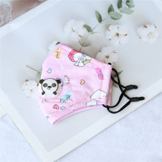 Bear cub children with breathing valve PM2.5 face mask all cotton cartoon adjustable washing three-dimensional dust prevention and haze prevention