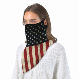 Camouflage national flag sun protection triangle scarf Neck gaiter outdoor riding ear mask magic scarf Bib face mask