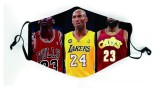 MOQ10 Basketball NBA team Lakers heat warriors bucks, Mavericks, fusées magiques, grizzlies, 76ers, masque civil solaire