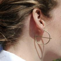 Simple personality, creative geometry, semicircle earrings, fashionable Earrings