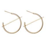 Personnalité simple, géométrie créative, boucles d'oreilles en demi-cercle, boucles d'oreilles à la mode
