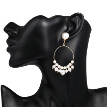 Tassel Pearl Earrings Damenmode Ohrringe lange einfache Ohrringe