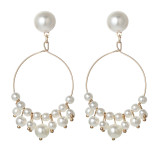 Tassel Pearl Earrings women's fashion earrings long simple Earrings