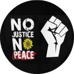 20MM No Justice No peace Boutons-pression en métal émaillé peint