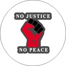 20MM No Justice No peace Painted enamel metal snap buttons
