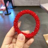 Блестящий кристалл цветной эластичный браслет для волос двойного назначения аксессуары для волос