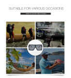 Large frame sunglasses female square multicolor personalized Sunglasses