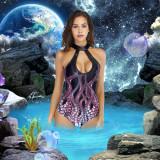 Bikini 3D printed sexy corset swimwear with bra in summer European and American fashion Octopus swimwear
