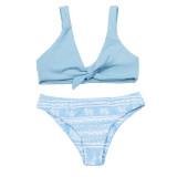 Blue split women's Bikini
