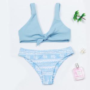 Bikini de mujer split azul