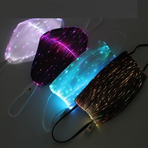 LED lighting charging face mask riding PM2.5 mask colorful fiber fabric bar Halloween party equipment