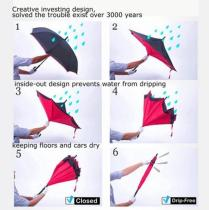 Обратный зонт бесплатный подарок зонт ветрозащитный и влагостойкий зонт