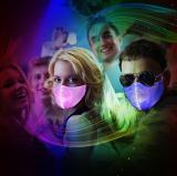 MOQ50 светодиодное освещение зарядка маска для лица езда маска PM2.5 красочная ткань из волокна бар оборудование для вечеринок на Хэллоуин